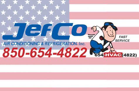 JefCo Air Conditioning & Refrigeration Logo & Flag